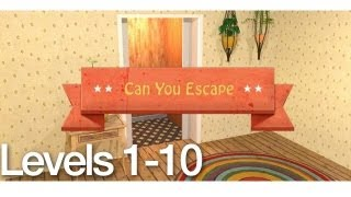 Can You Escape Walkthrough Levels 1-10