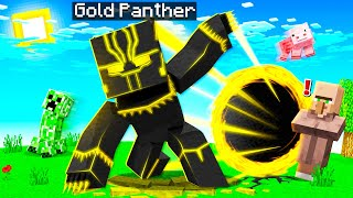 PLAYING as GOLD PANTHER in MINECRAFT!