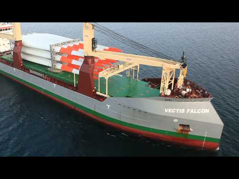"""MV VECTIS FALCON - """"green power"""" loaded on low-emission """"green vessel"""""""