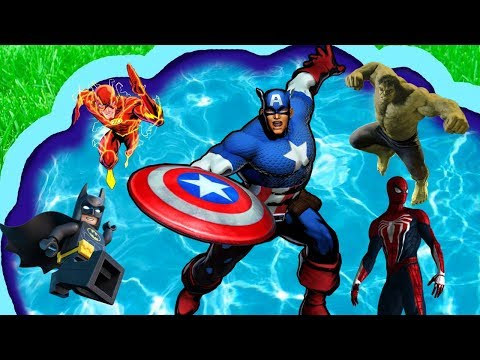 Супер герои из мультфильмов Железный человек/Халк/Бетмен/Флеш/Капитан америка/Человек паук/Тор