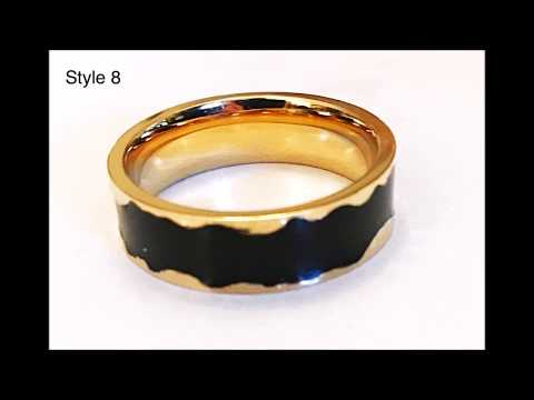 Cobalt / Zirconium Rings For Men (Sizes S, T, U, V, W and X)