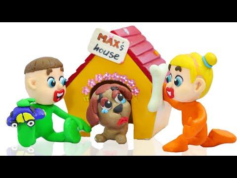 Kids Feed Little Puppy Dog 💟 LIVE Dibujos Animados De Animación Stop Motion
