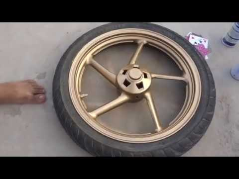 How To Paint Alloy wheels (HIndi)
