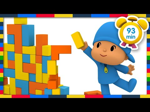 🏙 POCOYO in ENGLISH - Building blocks games [93 min]   Full Episodes   VIDEOS and CARTOONS for KIDS