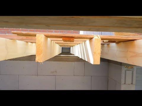 Межэтажное деревянное перекрытие в доме из газобетона