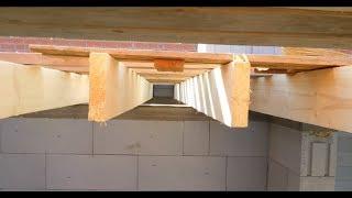 видео Деревянные перекрытия в доме из газобетона