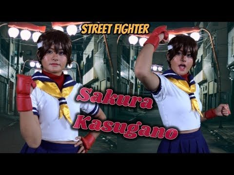 Sakura Street Fighter Cosplay Makeup Tutorial