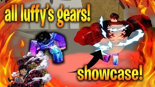 ALL OF LUFFY'S GEARS SHOWCASE! | Ver 012 | Roblox