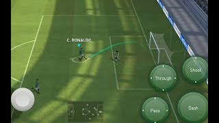 chip shoot, finesse shoot, bring the GK out tutorial pes 2018 mobile