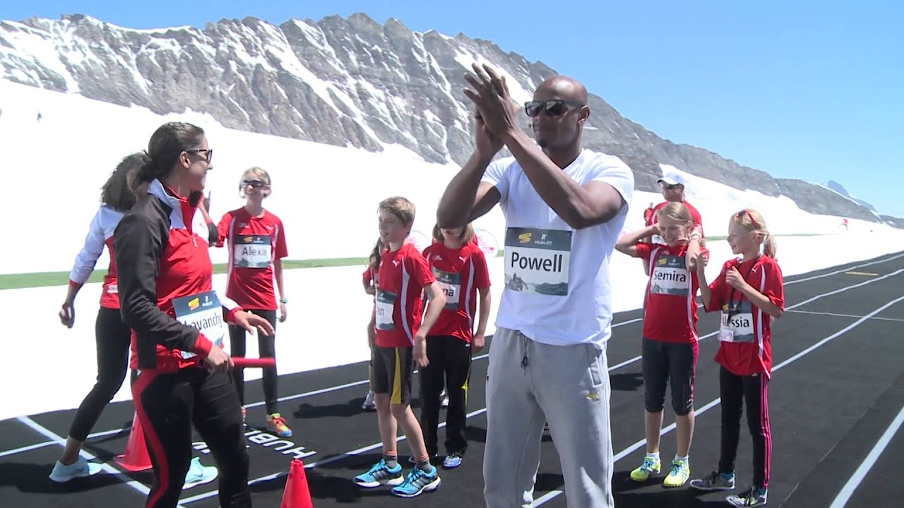 HUBLOT | ATHLETES MEET ON THE TOP OF EUROPE. A breathtaking backdrop for a thrilling 100 m
