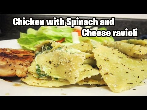 Chicken with Spinach and Cheese ravioli (VEDA Day #22)