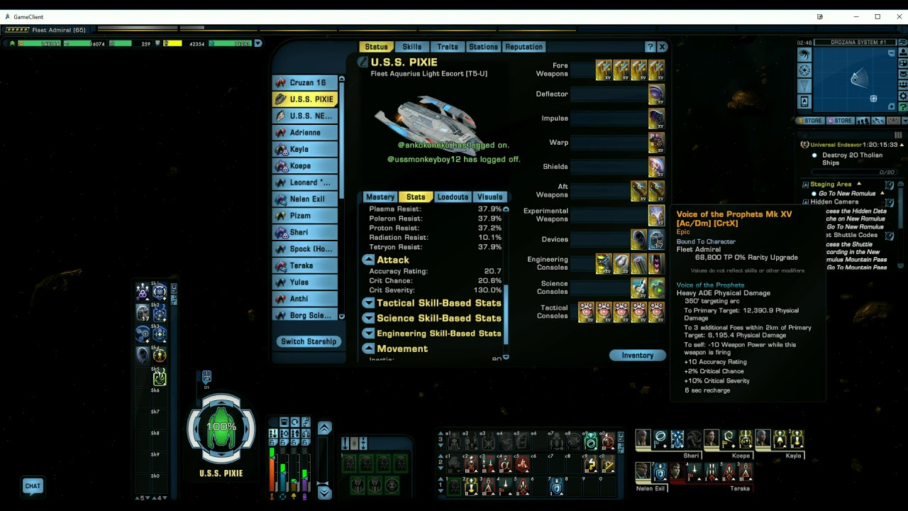 Aquarius Proof Of Concept Build Star Trek Online Youtube