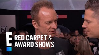 Sting Talks Receiving AMAs Merit Award | E! Live from the Red Carpet