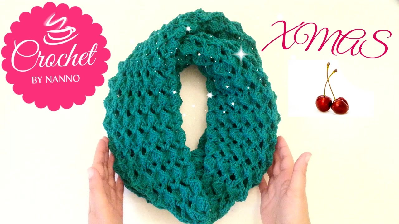 How to Crochet Scarf Cowl /Stitch #1 | Easy for all l☕ The Crochet ...