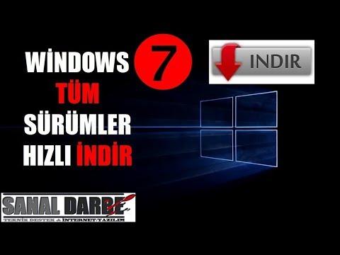 Windows 7 Tüm Sürümler 32x64 Bit Orjinal İndir