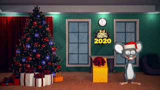 New Year 2020 Mouse And Christmas tree Light