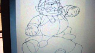 How To Draw Wario With His Kart On Mario Kart Wii (5th Drawing)