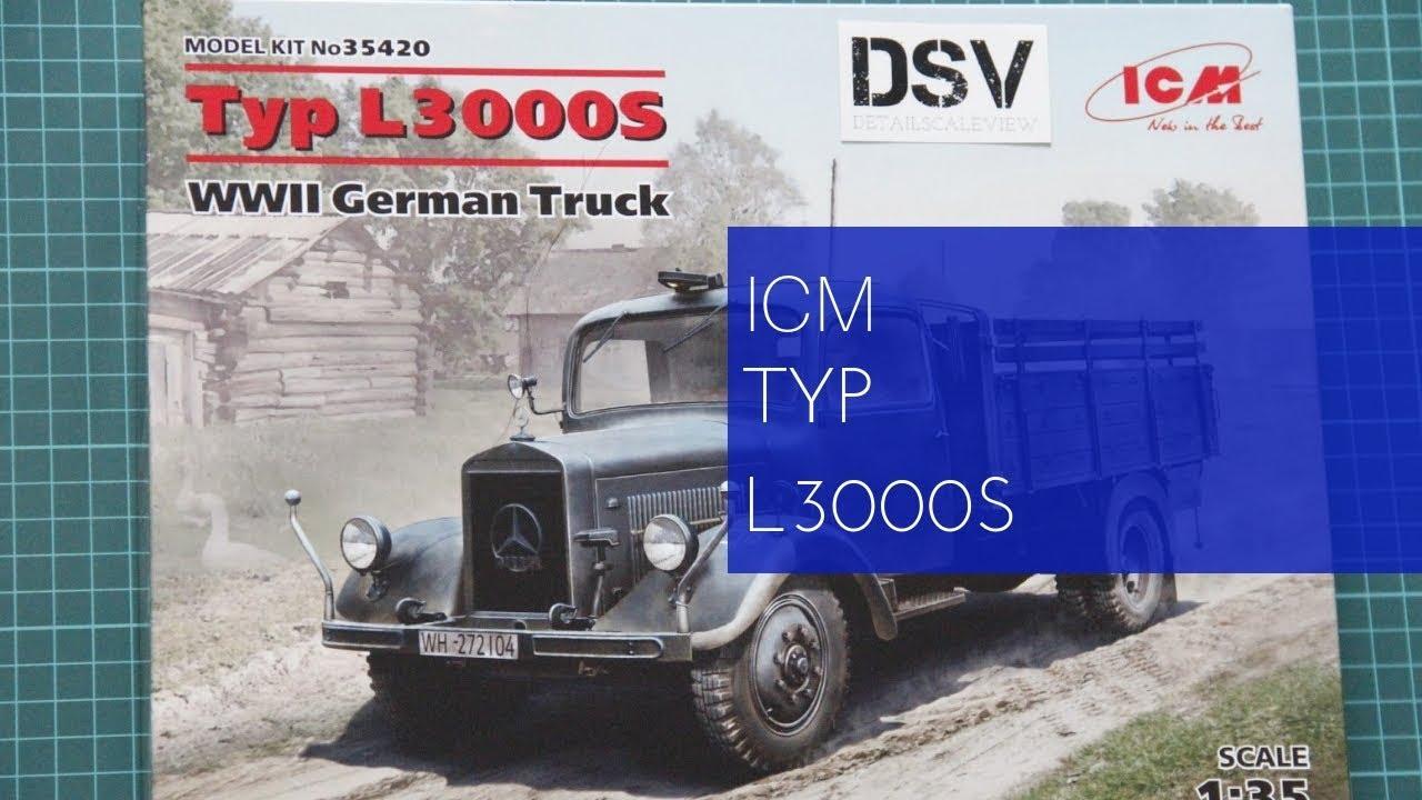 ICM 35420 WWII German Truck Typ L3000S 1//35