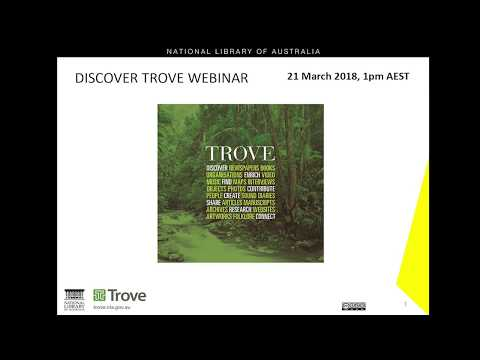 Discover Trove Webinar
