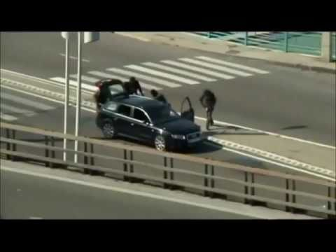 Marseille Armoured Car Heist Footage - Audi RS4 & RS6