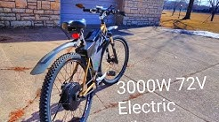 Electric Bike 72V 3000W Power!!