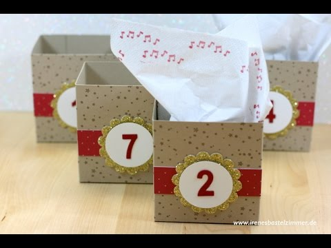 adventskalender selber basteln schnell und einfach diy youtube. Black Bedroom Furniture Sets. Home Design Ideas