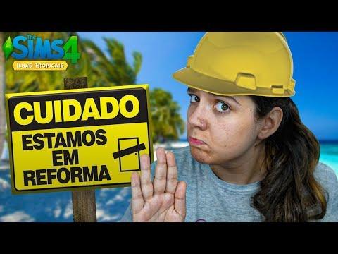 REFORMEI MINHA CASA INTEIRA! - The Sims 4 Ilhas Tropicais