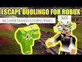 ESCAPE DUOLINGO OWL for ROBUX CHALLENGE | Roblox Jailbreak