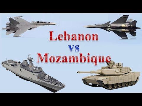 Lebanon vs Mozambique Military Comparison 2017