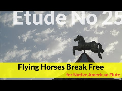 Native American Flute Etude No. 25 - Flying Horses Break Free