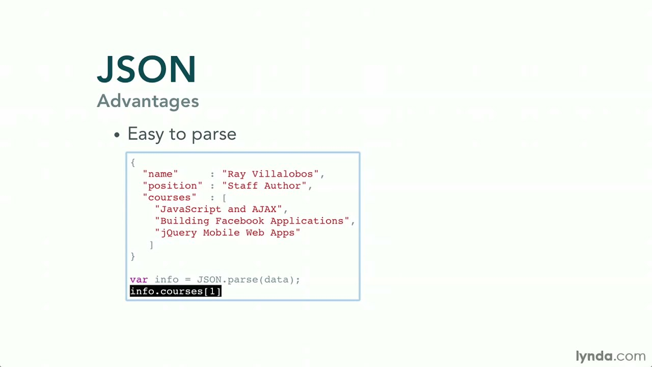 writing a json object in javascript