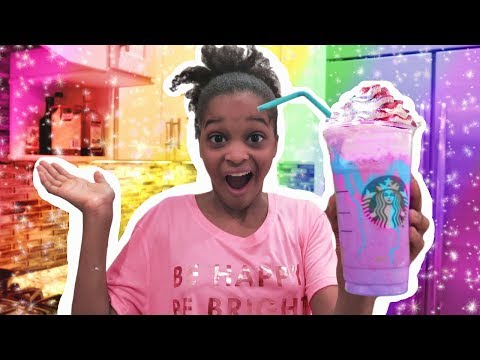 DIY UNICORN FRAPPUCINO SLIME! (SO FLUFFY)
