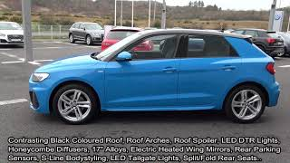 CMG AUDI SLIGO: 2019 Audi A1 Sportback 30 TDI S Line 116BHP Manual Turbo Blue Metallic #022728