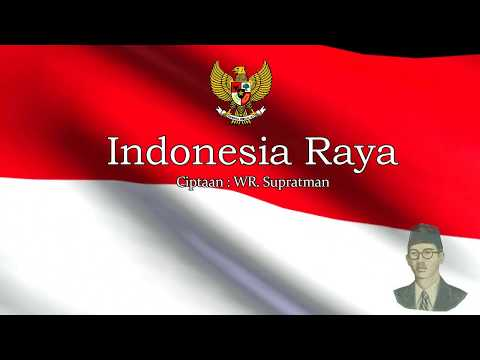 """Lagu Kebangsaan """" Indonesia Raya """" (Instrumen & Teks) / National Anthem Of Indonesia."""