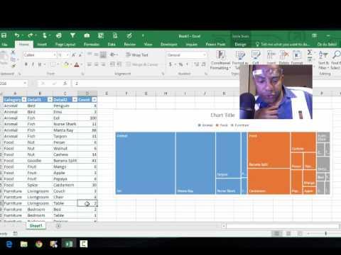 Excel 2016: treemap exploration