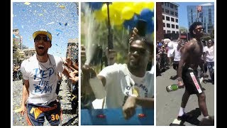 🏆Golden State Warriors go crazy at their Parade celebrating 2018 NBA Championship 🍾