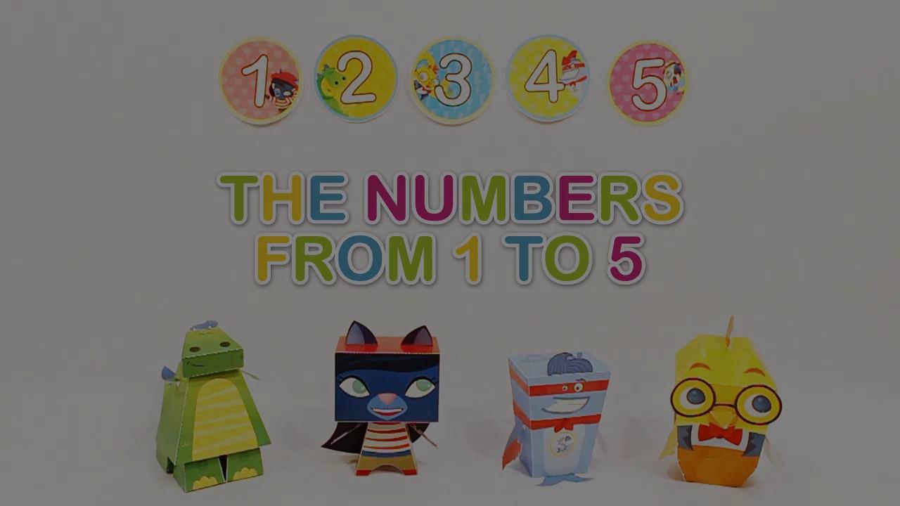Aprende Los Números Del 1 Al 5 En Inglés Con Subtítulos Youtube