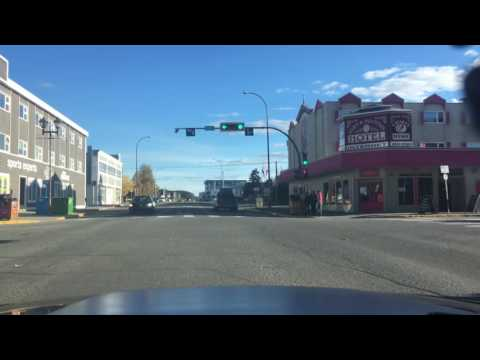Driving My Mustang In Downtown Whitehorse, Yukon