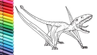 Drawing and Coloring The Dimorphodon From Jurassic World - Dinosaurs Color Pages for Children
