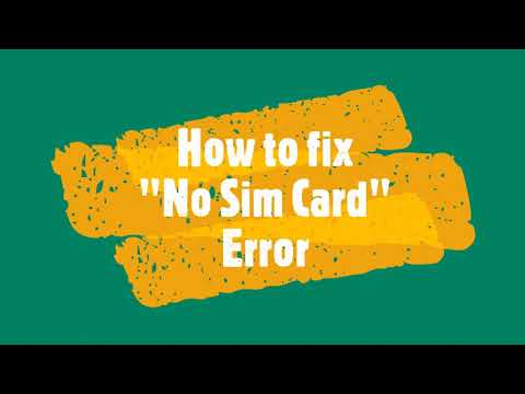 HOW TO FIX NO SIM CARD ERROR IN Android Device