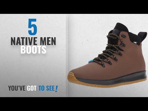 Top 10 Native Men Boots [ Winter 2018 ]: Native Men's Ap Apex Ct Rain Boot, Howler Brown CT/Jiffy