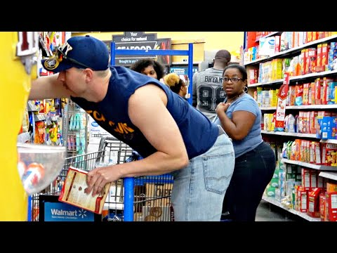 Knocking Items Into Strangers Shopping Carts Prank!