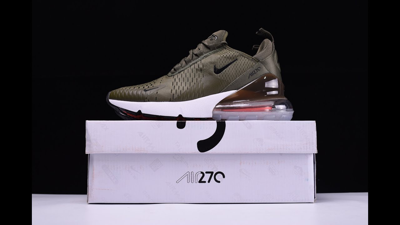 NIKE Mens Air Max 270 Medium Olive AH8050 201 - YouTube f0b5ba39b
