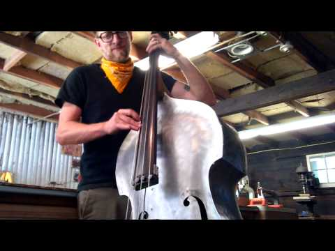 'buffalo roam' on aluminum double bass - tim sway