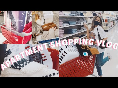APARTMENT SHOPPING VLOG | GETTING ESSENTIALS FOR MY FIRST APARTMENT | TARGET, IKEA & MORE!