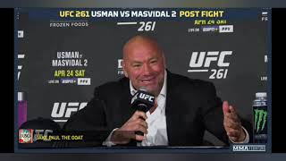 UFC 261 DC VS Jake Paul ||| Dana White responds to Jake Paul Post fight UFC261