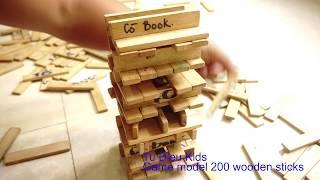 Đồ chơi 200 thanh gỗ ghép mô hình, đồ chơi trí tuệ cho trẻ em. Toy 200 wooden bars model