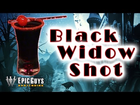 How To Make A Black Widow Shot | Halloween Cocktail Recipe | Epic Guys Bartending