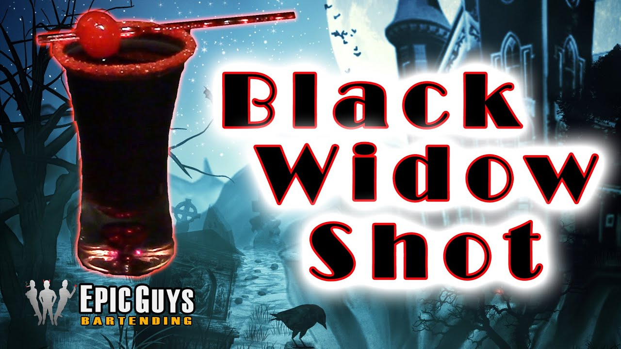 Easy Halloween Shots Recipes How To Make A Black Widow Shot Halloween Cocktail Recipe Epic Guys Bartending