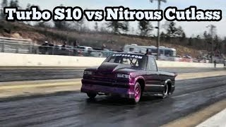 La Victoria Twin Turbo S10 vs Nitrous Cutlass at Reapers Out of Time No Prep